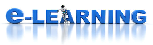 E-learning and robot Stock Images