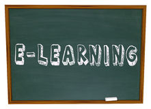 E-Learning School Chalkboard Online Internet Web Based Education Royalty Free Stock Images