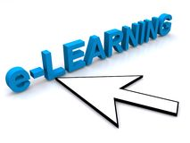 E-learning sign Royalty Free Stock Images