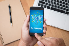 E-LEARNING Stock Image