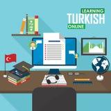 E-learning Turkish language. Royalty Free Stock Images