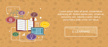 E-learning website banner. Royalty Free Stock Photography