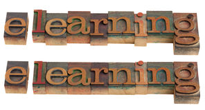 E-learning word Stock Photo