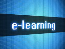 E-learning word on display Royalty Free Stock Image