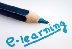 E-learning word Stock Images