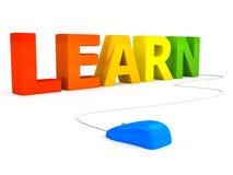 E-Learningkonzept über weißem Hintergrund Lizenzfreie Stockfotografie