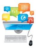 E-lerend concept Stock Foto's
