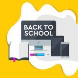 E-lerend ontwerp, online onderwijsconcept met het leren pictogram Vectorillustratie voor de affiche en de website van de bannersu stock fotografie