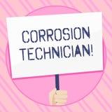 E Les systèmes de contrôle de photo de corrosion conceptuelle d'installation et de maintien remettent illustration de vecteur