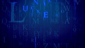 E-letra abstrata com linhas e letras inglesas Fotografia de Stock