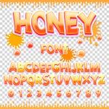 E Letras y números dulces de ABC Alfabeto lindo de los niños Imagenes de archivo