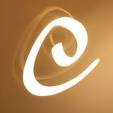 E Letter stock photography