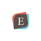 E letter icon retro logo design. Vintage company sign vector des. E letter icon retro logo design. Vintage company sign Royalty Free Stock Photos