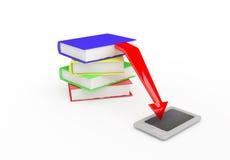 E-libro. 3D rendono Fotografie Stock