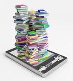 E-libro ed il suo soddisfare Illustrazione di Stock