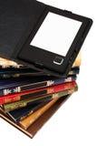 E-libro y libros Foto de archivo libre de regalías