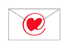 E-liefde bericht Royalty-vrije Stock Foto