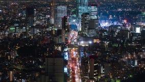 E Ligne et ville de 3 Shibuya la nuit ? Tokyo, Japon clips vidéos
