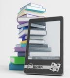 E-livre et son contenu Photographie stock