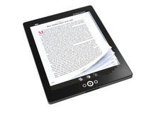 E-livres sur le PC de tablette Photographie stock libre de droits