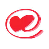 E-love. Sign on the white background Stock Photography
