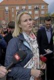 E.M. HELLE THORNING-SCHMIDT MÖTER VÄLJARE Royaltyfria Bilder