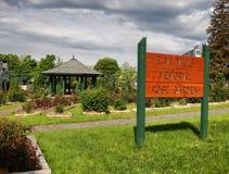 E. M. Mills Memorial Rose Garden. Sign Stock Photos