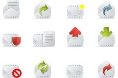 e - mail 1 ikony emailo ustawienia royalty ilustracja