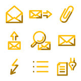 E-mail 2 icons Royalty Free Stock Photography