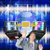 E-mail. Of a network the Internet delivers you the message from any point of the world Royalty Free Stock Photo