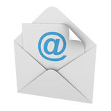 E-mail. E mail isolated on white background stock illustration