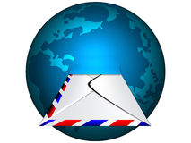 E-mail. Icon and planet earth Stock Photo