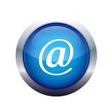 E-mail. Round blue e-mail icon isolated Stock Photos