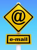 E-mail. 3d rendering illustration of e-mail sign. A clipping path is included for easy editing Stock Photography
