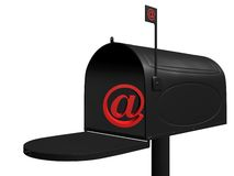 E mail. 3d rendering illustration of an email box. A clipping path is included for easy editing Stock Photos