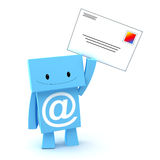 E-mail 3D character Stock Photo