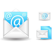 E-mail. Letter with at symbols Stock Photos