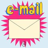 E-mail @ Royalty Free Stock Photography