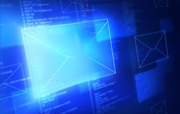 E-Mail. Abstract messages and computer codes Stock Image