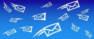 E-mail achtergrond SMS Stock Afbeeldingen