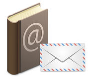 E-mail address book Royalty Free Stock Photos