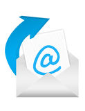 E-mail adress sign Royalty Free Stock Photos