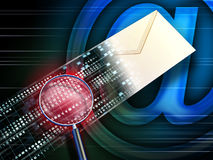 E-mail aftasten stock illustratie