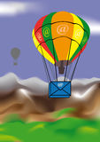 E-mail air-balloons Stock Photography