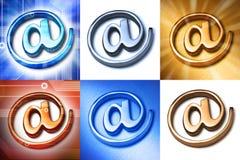 E-mail alias bij Symbolen Royalty-vrije Stock Foto