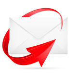 E-mail with arrow Stock Photography