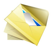 E-mail with arrow vector illustration Royalty Free Stock Photo