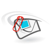 E-mail attachment royalty free illustration
