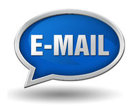 E mail badge concept illustration Royalty Free Stock Images