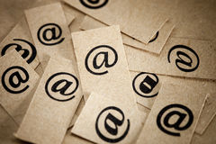 E-mail bericht Stock Foto's